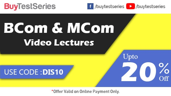 B Com and M Com Video Lectures at best prices offered