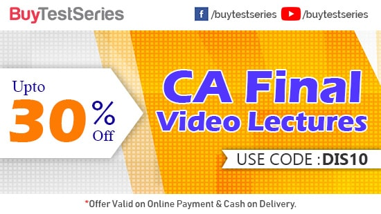 CA Final Video Lectures at huge discount on BuyTestSeries