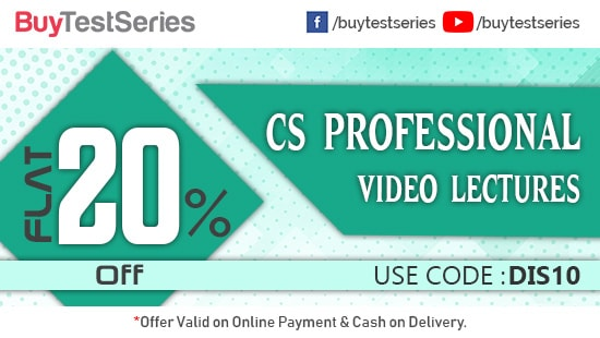 CS Professional Video Lectures at huge discount on BuyTestSeries