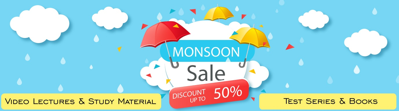 Monsoon Sale on BuyTestSeries on CA Video Lectures