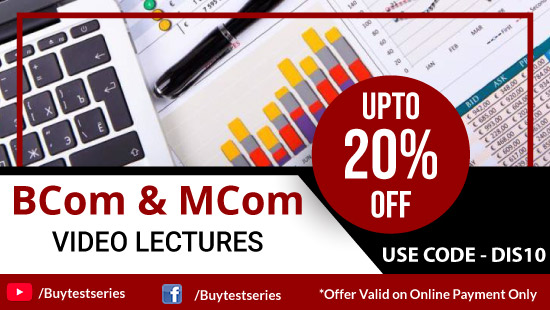 B Com & M Com Video Lectures Diwali Offer on BuyTestSeries