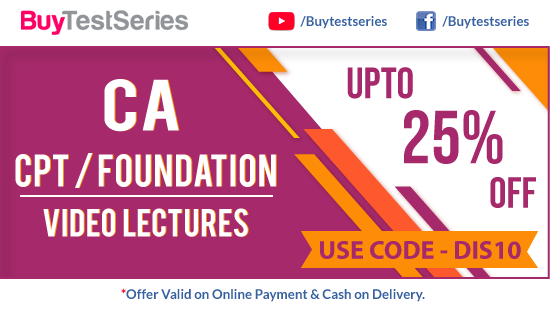 CA CPT & CA Foundation Video Lectures on BuyTestSeries