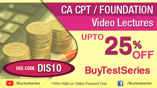 CA CPT Video Lectures at best prices offered only on BuyTestSeries