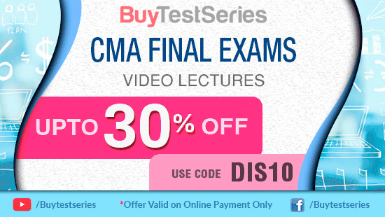 CMA Final Courses Offer on BuyTestSeries