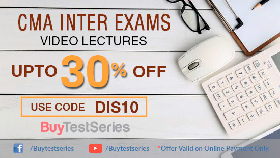 CMA Inter Video Lectures at huge discount on BuyTestSeries