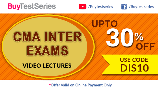 CMA Inter Video Lectures on BuyTestSeries
