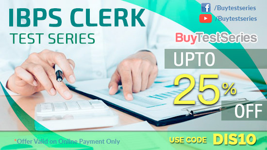 Bank Clerk Test Series only on BuyTestSeries