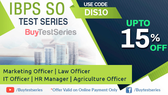 Test Series Preparation for Bank SO only on BuyTestSeries