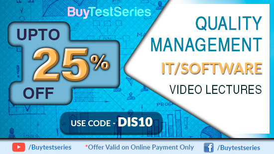 Quality managemnet, Six Sigma ,Lean lectures only on BuyTestSeries