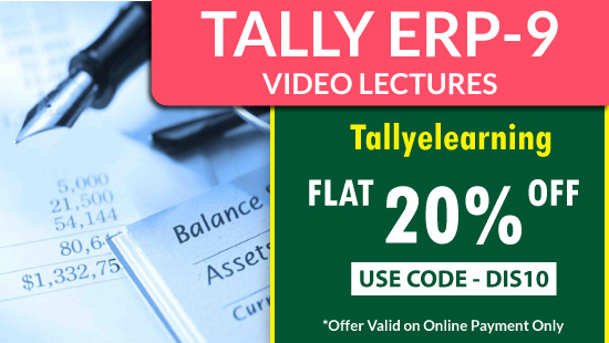 Tally Video Lectures by best faculty and lowest price only on BuyTestSeries