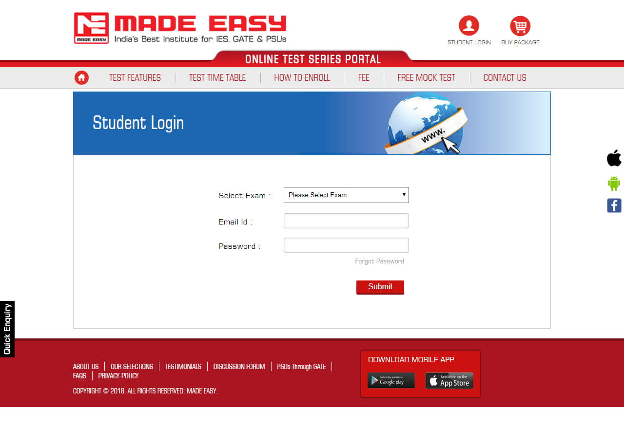 Gate online test series 2019 mechanical by made easy demo videos fandeluxe Choice Image