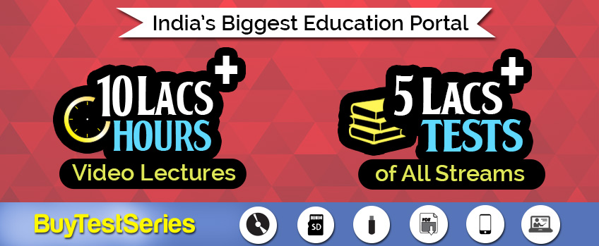 Video Lectures and Test Series for CA, GATE, IES, Bank Exam students