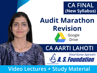 CA Final New Syllabus Audit Marathon Revision Video Lectures by CA Aarti Lahoti (Download)