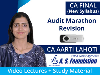 CA Final New Syllabus Audit Marathon Revision Video Lectures by CA Aarti Lahoti (USB)