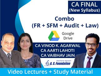 CA Final New Syllabus (FR + SFM + Audit + Law) Combo Video Lectures by CA Vinod Kumar Agarwal, CA Aarti Lahoti & CA Vaibhav Jain (Download)