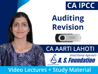 CA IPCC Auditing Revision Video Lectures by CA Aarti Lahoti (USB)