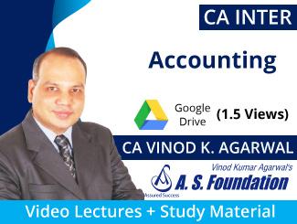 CA Inter Accounting Video Lectures by CA Vinod Kumar Agarwal (Download, 1.5 Views)