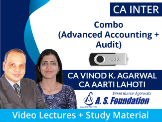 CA Inter (Advanced Accounting + Audit) Combo Video Lectures by CA Vinod Kumar Agarwal & CA Aarti Lahoti (USB)