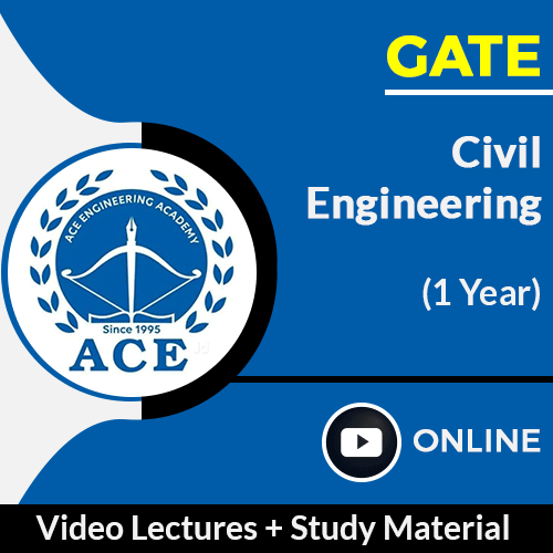 GATE Civil Engineering Online Video Lectures with Study Material by ACE Engg Academy (1 Year)