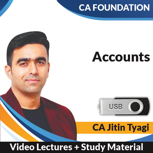 CA Foundation Accounts Video Lectures by CA Jitin Tyagi (USB)