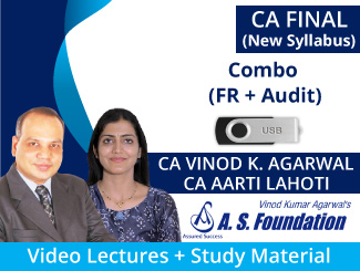 CA Final Combo (FR + Audit) New Syllabus Video Lectures by CA Vinod Agarwal & CA Aarti Lahoti (USB)