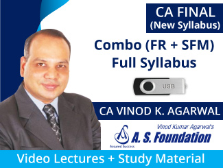 CA Final Combo (FR + SFM) New Syllabus Video Lectures by CA Vinod Agarwal (USB)