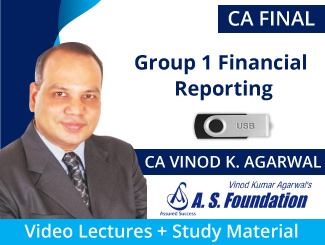 CA Final Group 1 Financial Reporting Video Lectures by CA Vinod Agarwal (USB)