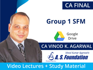 CA Final Group 1 SFM Video Lectures by CA Vinod Agarwal (Download)