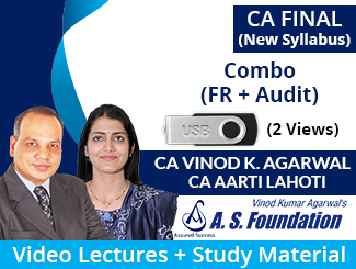 CA Final New Syllabus (FR + Audit) Combo Video Lectures by CA Vinod Kumar Agarwal & CA Aarti Lahoti (USB, 2 Views)