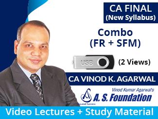 CA Final New Syllabus (FR + SFM) Combo Video Lectures by CA Vinod Kumar Agarwal (USB, 2 Views)