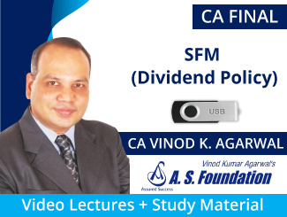 CA Final SFM (Dividend Policy) Video Lectures by CA Vinod Agarwal (USB)