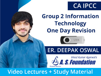 CA IPCC Group 2 Information Technology One Day Revision Video Lectures by Er Deepak Oswal (USB)