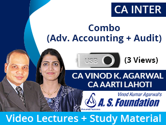 CA Inter (Adv. Accounting + Audit) Combo Video Lectures by CA Vinod Kumar Agarwal & CA Aarti Lahoti (USB, 3 Views)