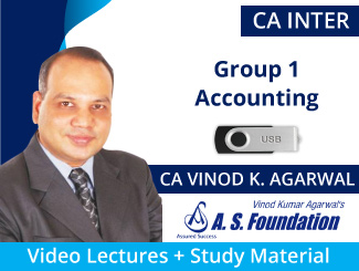 CA Inter Group 1 Accounting Video Lectures by CA Vinod Agarwal (USB)