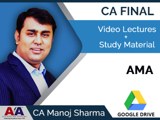 CA Final AMA Video Lectures by CA Manoj Sharma (Download)