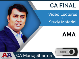 CA Final AMA Video Lectures by CA Manoj Sharma (USB)