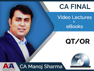 CA Final QT/OR Video Lectures by CA Manoj Sharma (DVD)