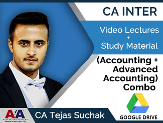 CA Inter (Accounting + Advanced Accounting) Combo Video Lectures by CA Tejas Suchak (Download)