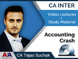 CA Inter Accounting Crash Video Lectures by CA Tejas Suchak (DVD)