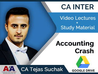 CA Inter Accounting Crash Video Lectures by CA Tejas Suchak (Download)