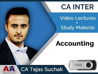 CA Inter Accounting Video Lectures by CA Tejas Suchak (USB)