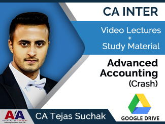 CA Inter Advanced Accounting Crash Video Lectures by CA Tejas Suchak (Download)