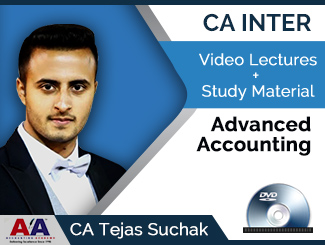 CA Inter Advanced Accounting Video Lectures by CA Tejas Suchak (DVD)