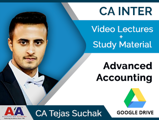 CA Inter Advanced Accounting Video Lectures by CA Tejas Suchak (Download)