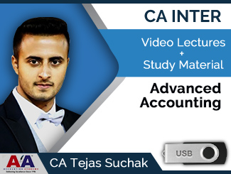 CA Inter Advanced Accounting Video Lectures by CA Tejas Suchak (USB)