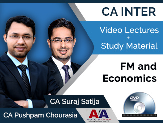 CA Inter FM & Economics Video Lectures by CA Pushpam Chourasia & CA Suraj Satija (DVD)