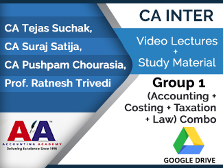 CA Inter Group 1 (Accounting + Costing + Taxation + Law) Combo Video Lectures (Download)