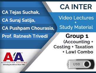 CA Inter Group 1 (Accounting + Costing + Taxation + Law) Combo Video Lectures (USB)