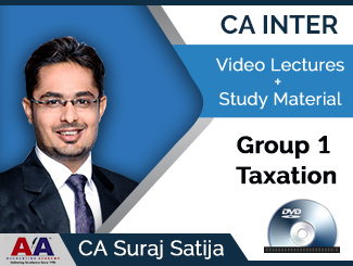 CA Inter Group 1 Taxation Video Lectures by CA Suraj Satija (DVD)