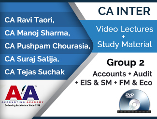 CA Inter Group 2 (Accounts + Audit + EIS & SM + FM & Eco) Video Lectures (DVD)